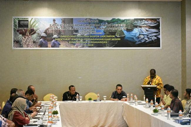 Bupati Sorong Buka Desiminasi Fasilitasi Perdagangan Luar Negeri
