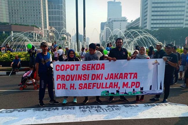 Pemuda dan Mahasiswa Gelar Petisi Copot Sekda DKI Jakarta