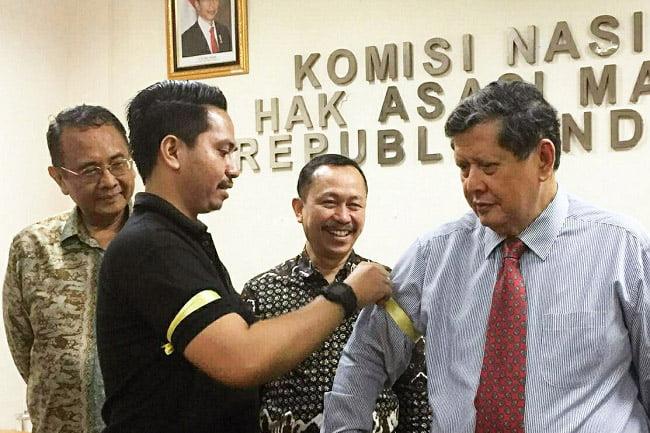 Gerakan Pita Kuning Kolaborasi Milineal Nusantara Dukung Independensi Komnas HAM