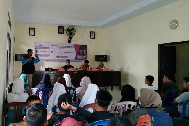 KKN Unhas Gelombang 102 Desa Lasiai Gelar Bincang Literasi