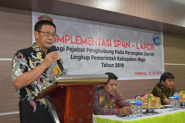 Implementasi SP4N LAPOR Bagi Peningkatan Kompetensi Pejabat Wajo