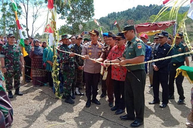 Dandim 0713/Brebes Tutup Pelaksanaan TMMD 105 di Desa Telaga