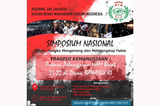 Ismahi DKI Jakarta Ungkap Fakta Potensi Pelanggaran HAM 21-22 Mei