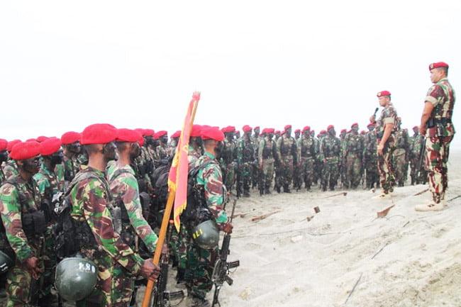 Danjen Kopassus Lantik 150 Siswa Pendidikan Komando Angkatan 103
