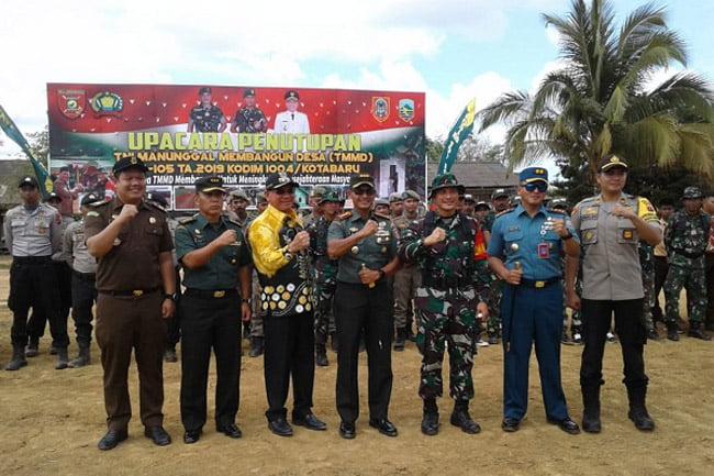 Danrem 101 Antasari Pimpin Upacara Penutupan TMMD Ke-105