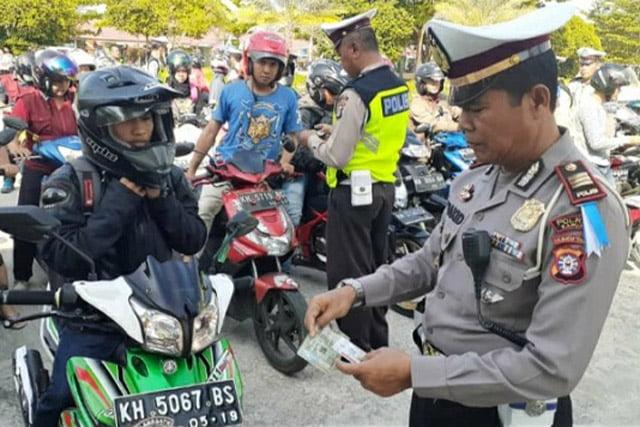 Polres Kapuas Gelar Razia Operasi Patuh Telabang 2019