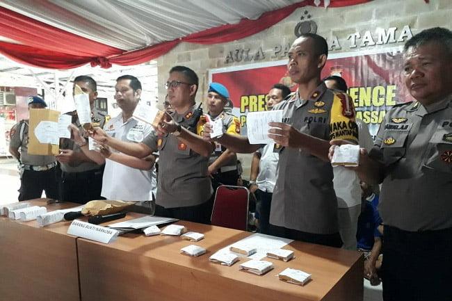 Unit Narkoba Polres Pelabuhan Makassar Jaring 40 Orang Terduga