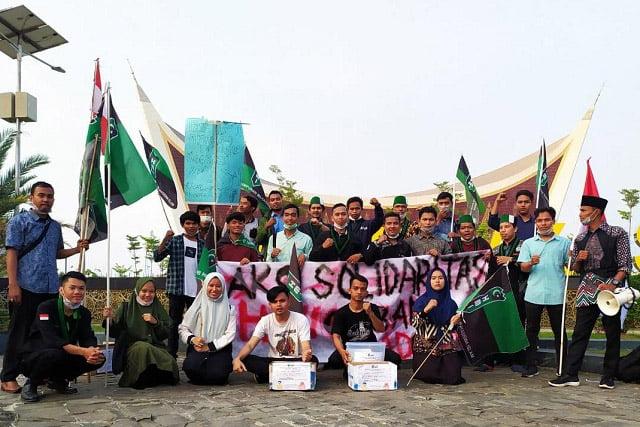 HMI Cabang Padang Gelar Penggalangan Dana Korban Asap di Riau