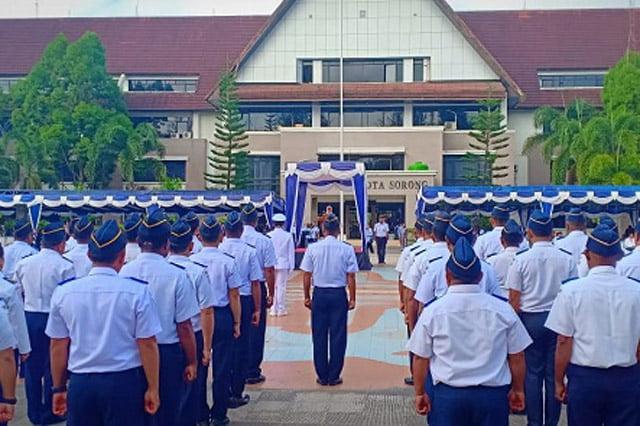 Upacara Hari Perhubungan Nasional ke 49 di Sorong
