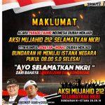 Aksi Mujahid 212 Selamatkan NKRI Longmarch Bundaran HI-Istana