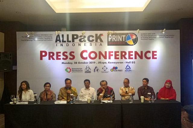 Pameran AllPack Indonesia 2019 dan AllPrint Akan Digelar Selama 4 Hari