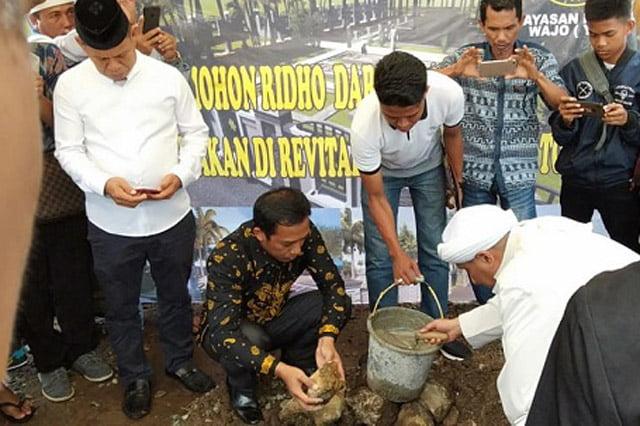 Peletakan Batu Pertama Revitalisasi Masjid Tua Tosora