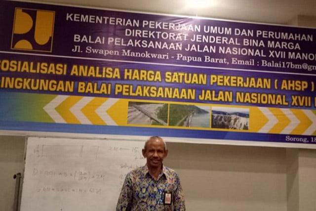 Balai PJN XVII Manokwari Sosialisasikan Analisa Harga Satuan Pekerjaan Versi 5.0