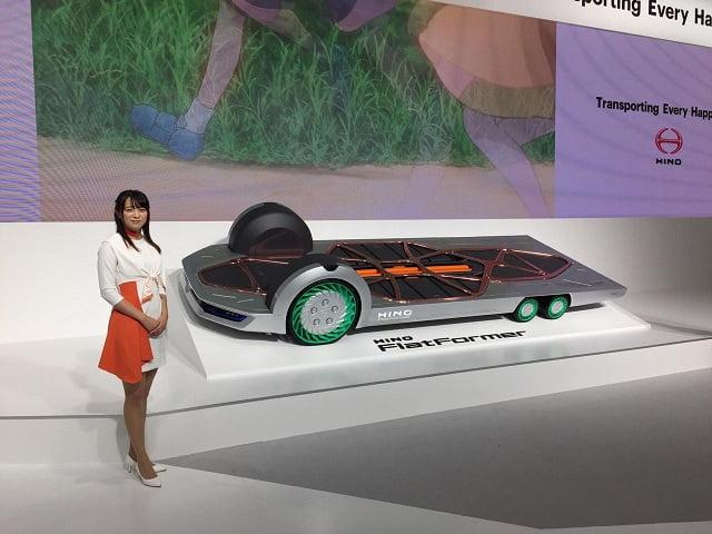 Hino FlatFormer World Premiere on Tokyo Motor Show 2019