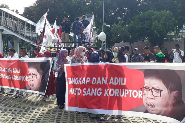 Datangi KPK, GPI Minta Hasto Kristiyanto Segera Ditangkap
