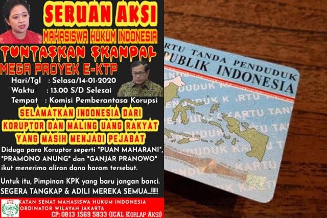 Skandal Mega Proyek E-KTP, Ismahi Jakarta Minta KPK Periksa Puan, Ganjar dan Pramono