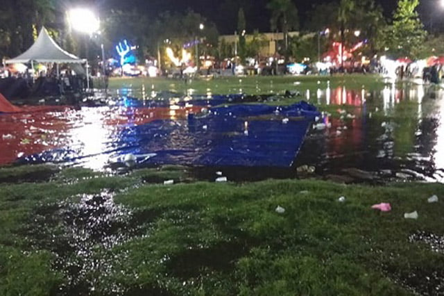 Malam Pergantian Tahun Kabupaten Wajo Diguyur Hujan