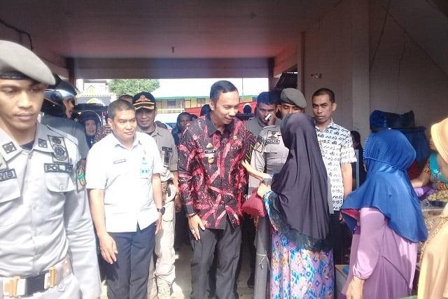 Wakil Bupati Wajo Sidak Pasar Atapange