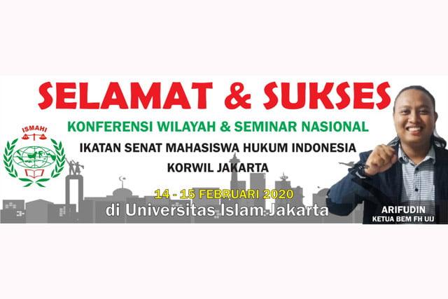BEM FH UIJ Pastikan Hadir di Konferwil Ismahi Jakarta