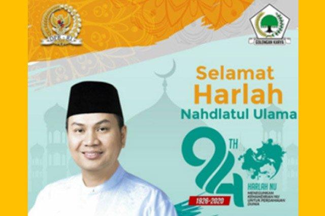 Hari Jadi NU Ke-94, Azis Syamsuddin Optimis Peran Aktif NU Persatukan Umat