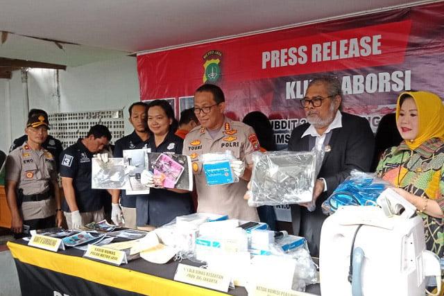 Polda Metro Jaya Bongkar Klinik Aborsi Ilegal di Jakarta Pusat