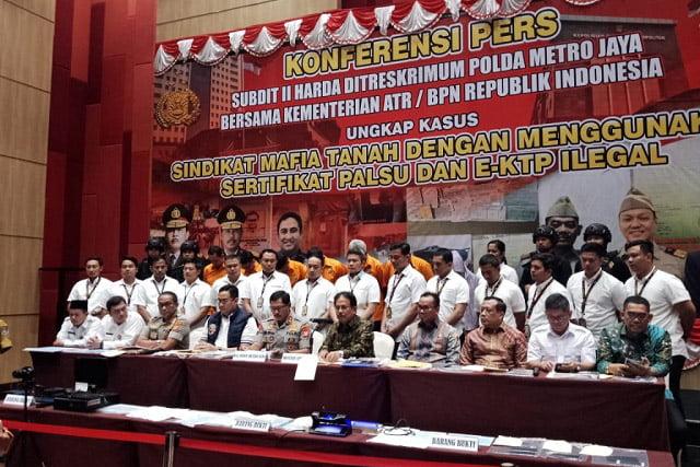 Polda Metro Jaya Ungkap Sindikat Mafia Tanah di Jakarta