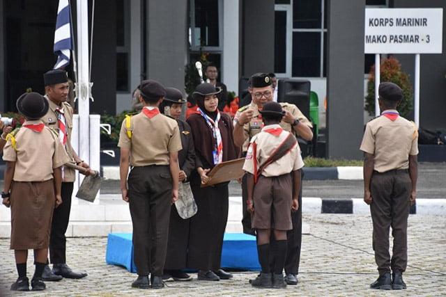 Pramuka Kwarcab Kota Sorong Gelar Upacara HUT Baden Powell Ke-163