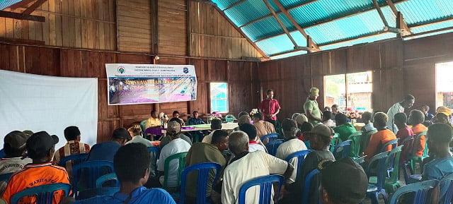 Kepala Kampung Biga Raja Ampat Ajak Warganya Kawal Dana Desa