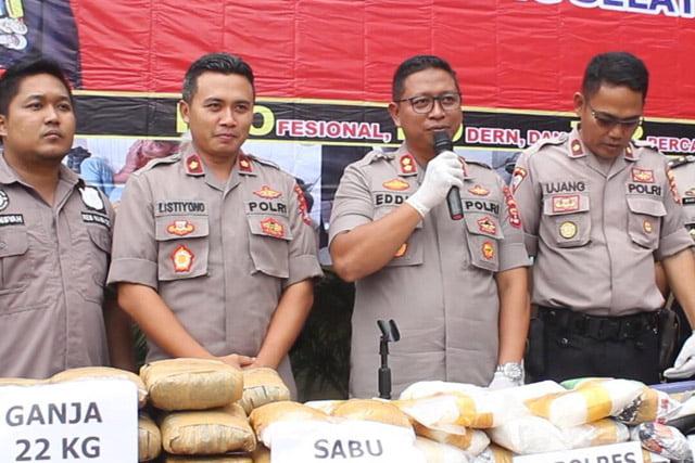 Polres Lampung Selatan Gagalkan Penyelundupan Narkoba Senilai 28 M