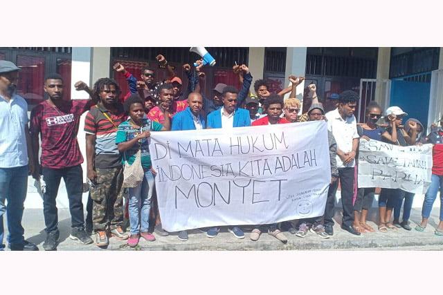 Dituding Makar, Papua Gelar Aksi Solidaritas Peduli Keadilan Bagi Monyet