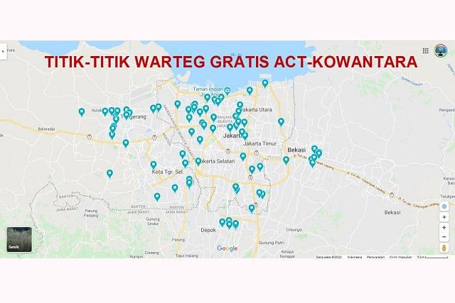 Daftar 100 Warteg Gratis di Jabodetabek Disediakan ACT dan Kowantara