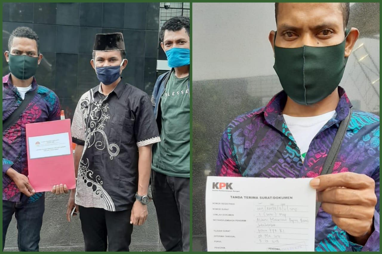 Jumat Kramat, AMPB Laporkan Dugaan Korupsi 145 M Walikota Sorong Ke KPK