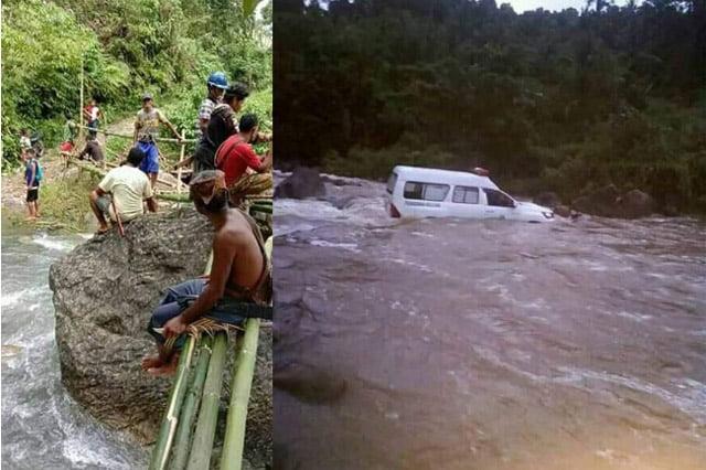 Kecewa Janji Pemda Buru Selatan, Warga 3 Desa Buat Jembatan Darurat Mandiri
