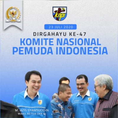 Azis Syamsuddin Dirgahayu KNPI 47