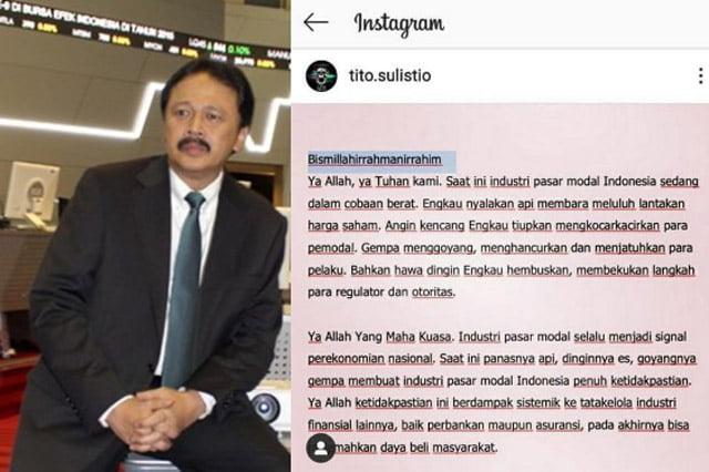 Postingan Mengerikan Mantan Dirut Bursa Efek Indonesia