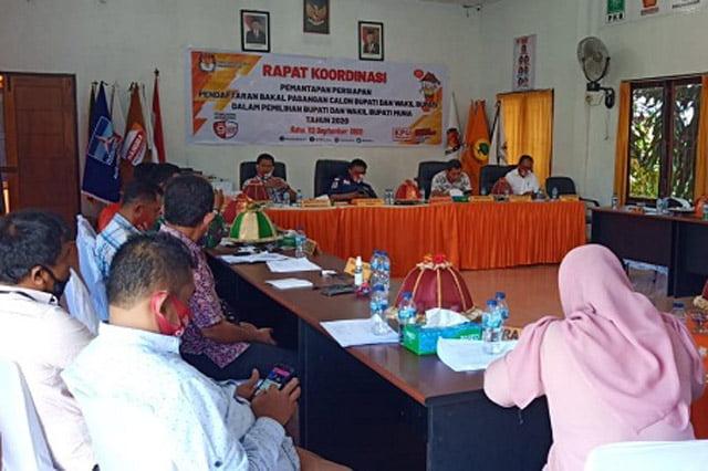 KPU Muna Gelar Rakor Pendaftaran Bakal Calon Bupati dan Wakil Bupati Muna 2020