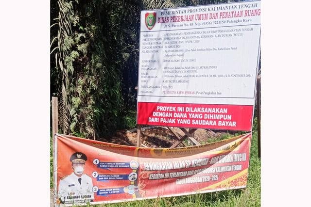 Jalan Simpang Kenawan - Riam Durian di Kabupaten Lamandau?