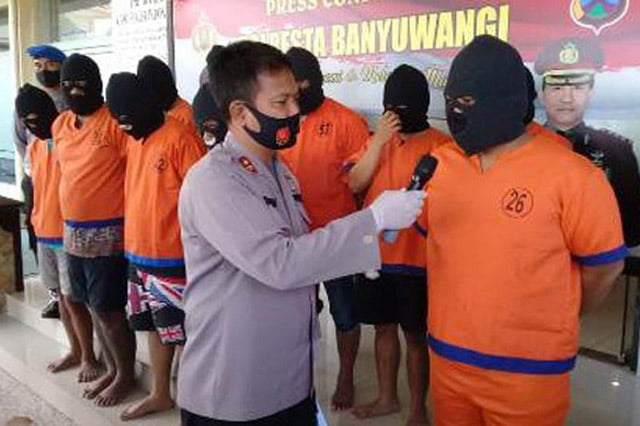 Polresta Banyuwangi Amankan 55 Pelaku Dalam Operasi Tumpas Narkoba