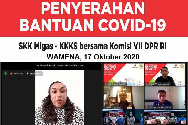 SKK Migas dan DPR RI Komisi VII Beri Bantuan JPS Covid-19 di Wamena