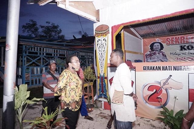 Calon Bupati Supiori Blusukan ke Lima Kampung Distrik Supiori Utara