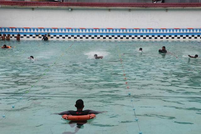 Polda Papua Gelar Uji Renang Calon Siswa Bintara Polri Tahun 2020