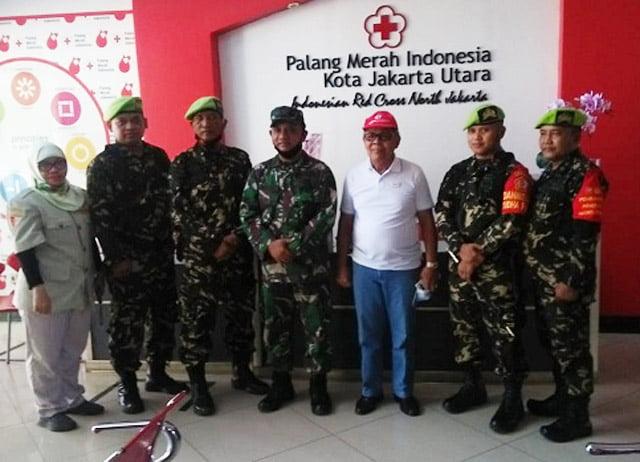Kader Pemuda Panca Marga Datangi PMI Jakarta Utara