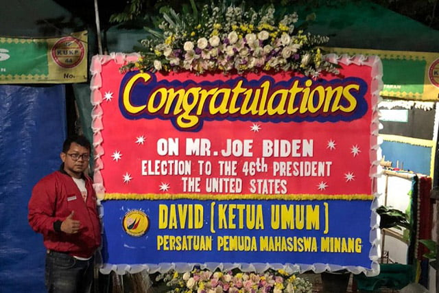 David Pemuda Minang Akan Kirim Rendang Spesial: Congratulations Mr Joe Biden