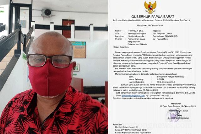 Gubernur Papua Barat Akan Laporkan Dugaan Pencatutan Nama dan Jabatan