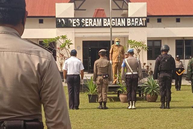 Bupati SBB Pimpin Apel Gelar Pasukan Operasi Lilin Siwalima 2020