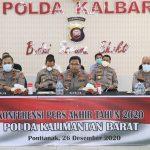 Kapolda Kalimantan Barat Sampaikan Evaluasi kerja Tahun 2020