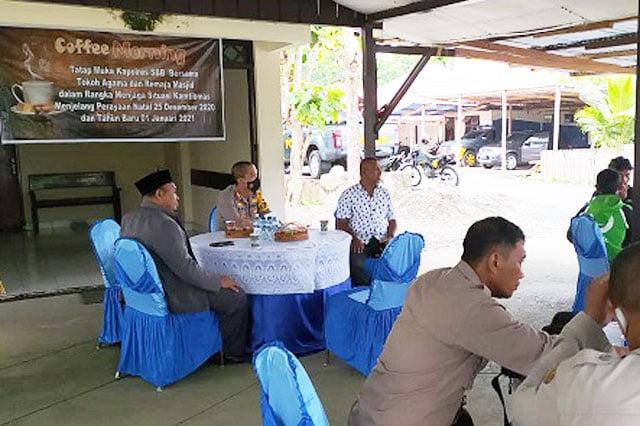 Jalin Komunikasi, Kapolres Seram Bagian Barat Gelar Coffee Morning