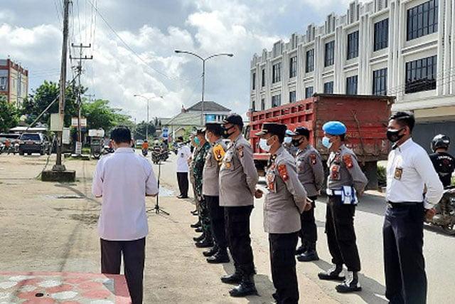Kabupaten Melawi Apel Gelar Tim Unit Kerja Terpadu Penerapan Protokol Kesehatan