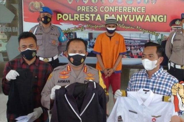 Polresta Banyuwangi Tangkap Pilot Gadungan