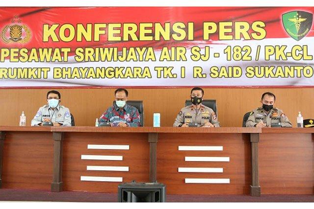 Sriwijaya Air SJY-182, Polri Akan Cocokkan 58 Sample DNA Dengan 56 Kantong Jenazah
